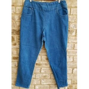 Blair Straight Elastic Waist Stretch Jeans 18